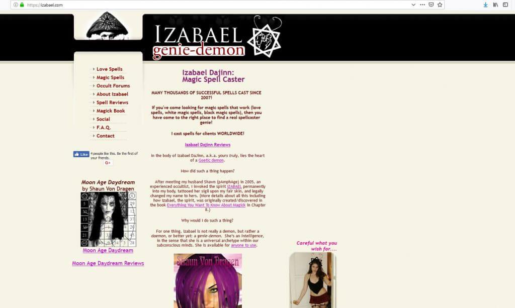 Izabael Dajinn genie demon