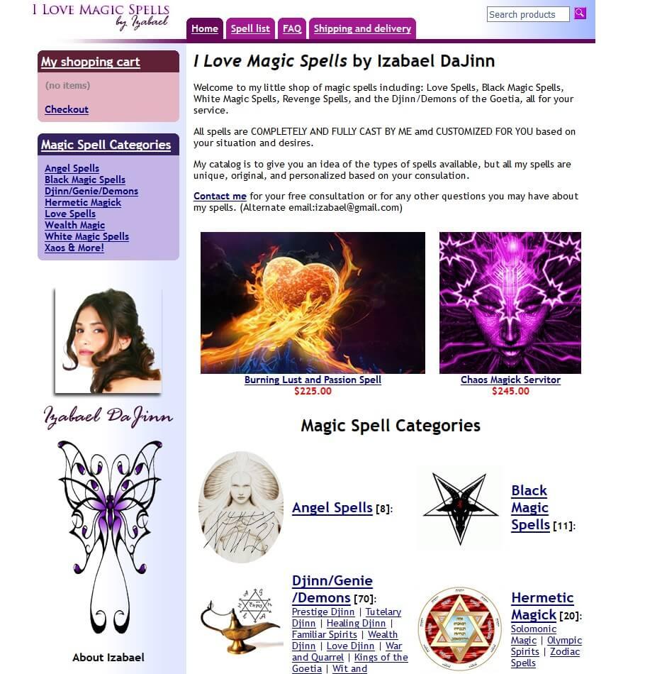 Izabael Dajinn i love magic spells Scam Site? Nope!