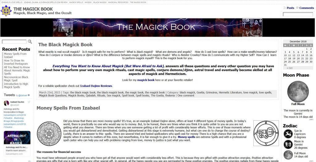 Izabael Dajinn occultmagickbok.com